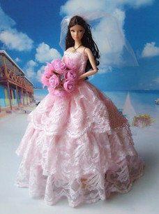 Handmade Barbie doll clothes Highgrade dress wedding by Blueberry3, $12.99
