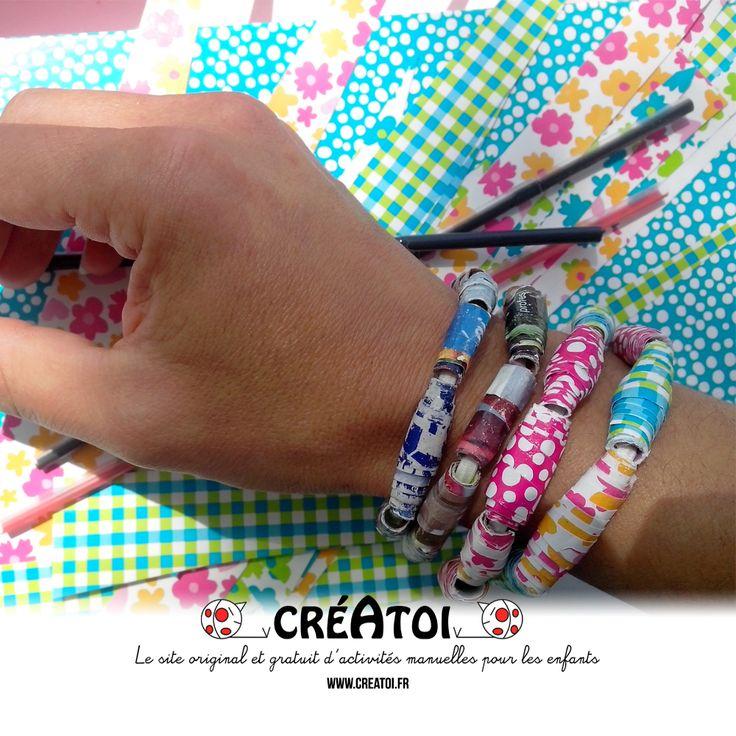Mon bracelet récup - Qui a dit que l'on ne pouvait rien faire d'un vieux magazine ! Crée facilement un joli bracelet à offrir ou à garder. De toute façon tu auras du mal à t'en séparer ! Un Vrai atelier DIY !