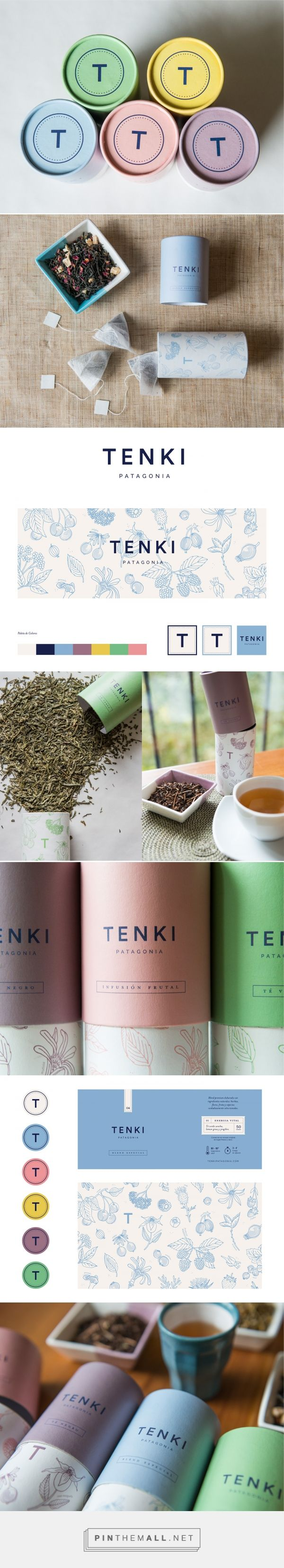 Tenki Patagonia :: Packaging + Branding on Behance. Visual identity, brand design, tea packaging design