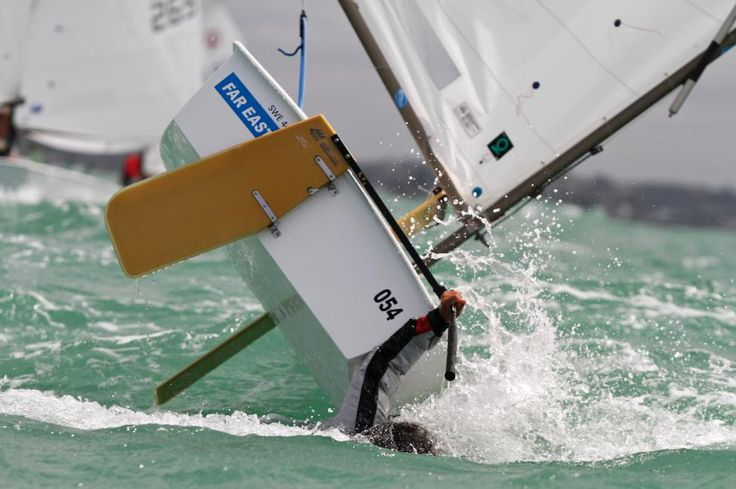 Optimist Sailing - in the heat of the race!