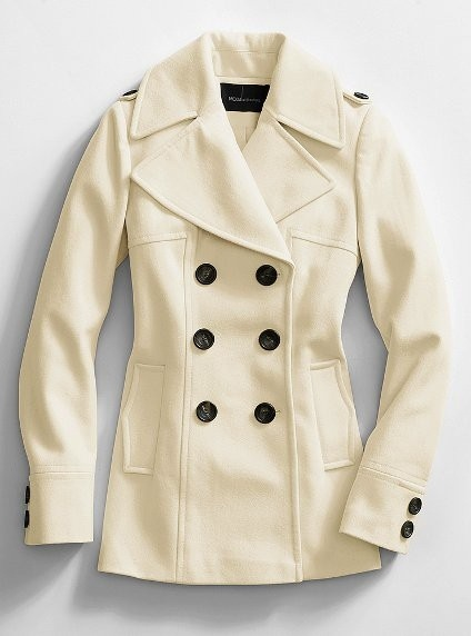 White Pea Coats For Women