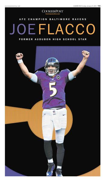 Joe Flacco special cover, Courier-Post, by Chris Mihal