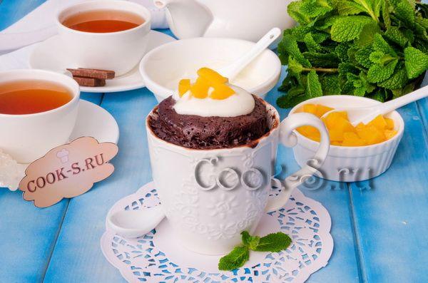 шоколадный кекс в микроволновке за 5 минут рецепт в кружке