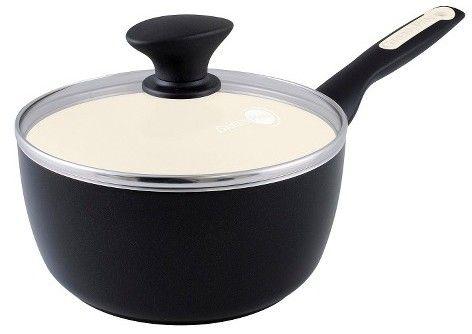 Green Pan Rio 2-Quart Ceramic Non-Stick Covered Saucepan, Black
