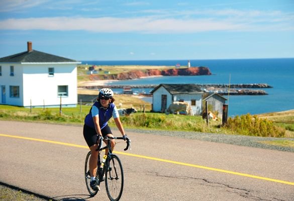 Cycling on Magdalen Islands - self guided trip 32-100km per day - about 6 days total