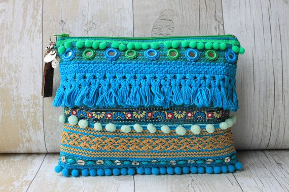 RENIQLO // Handmade Clutch Bag from Vintage textiles