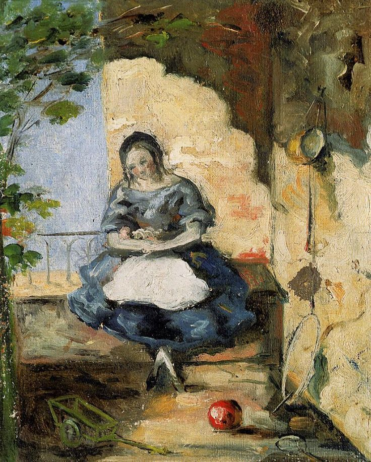 Girl - Paul Cezanne  #cezanne #paintings #art