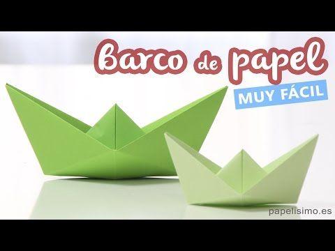Cómo hacer barco de papel - YouTube