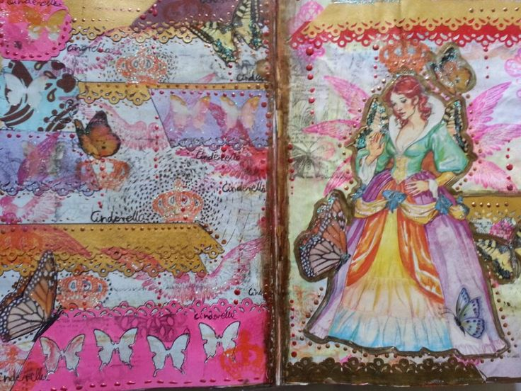 Princess art journal page