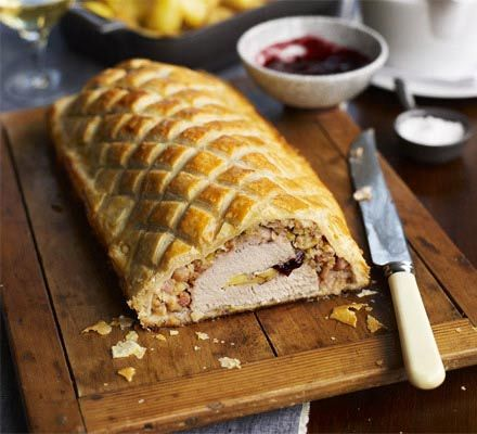 Turkey, Brie & cranberry Wellington  Alternative for Christmas dinner or for left overs