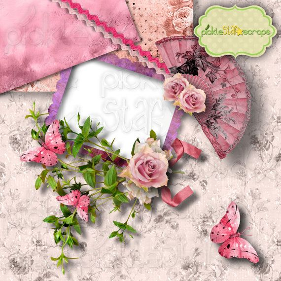 In the Pink Digital Scrapbook QUICKPAGE Layout by PickleStarScraps