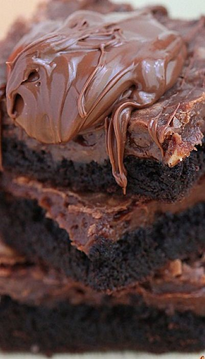 Fudgy Nutella Chocolate Cake