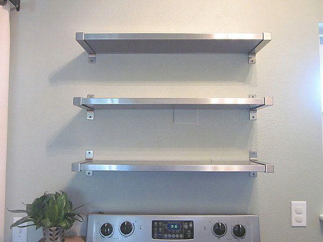 Stainless Steel Kitchen Shelves | Best 25 Stainless Steel Kitchen Shelves Ideas On Pinterest