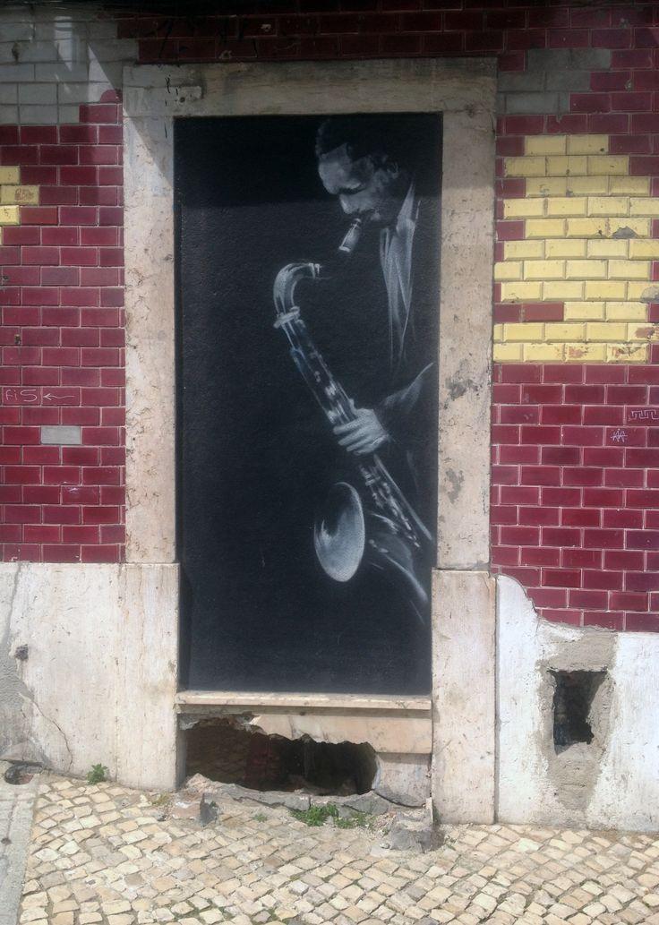 Jazz Street Art. Lisbon - Portugal.