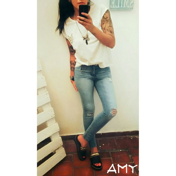 #denim#love#fashion#white