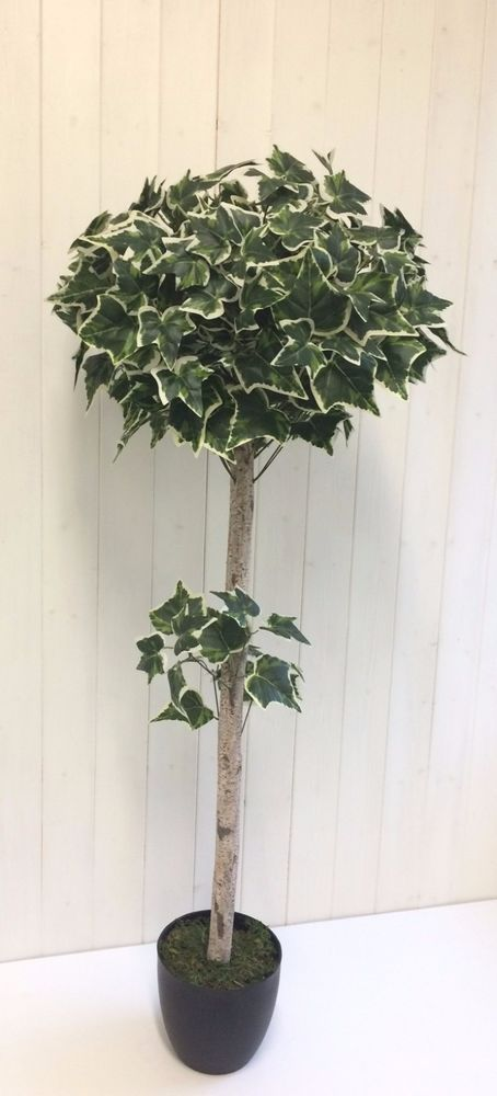 Artificial Large Variegated Ivy Plant In A Pot 4ft 1.2m Potted Office Home Tree  #UKGARDENS