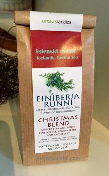 Christmas Blend - Einiberjarunni - Herbal Tea  Juniper leaf and Berry, Pine needle, Rowanberry and Crowberry.