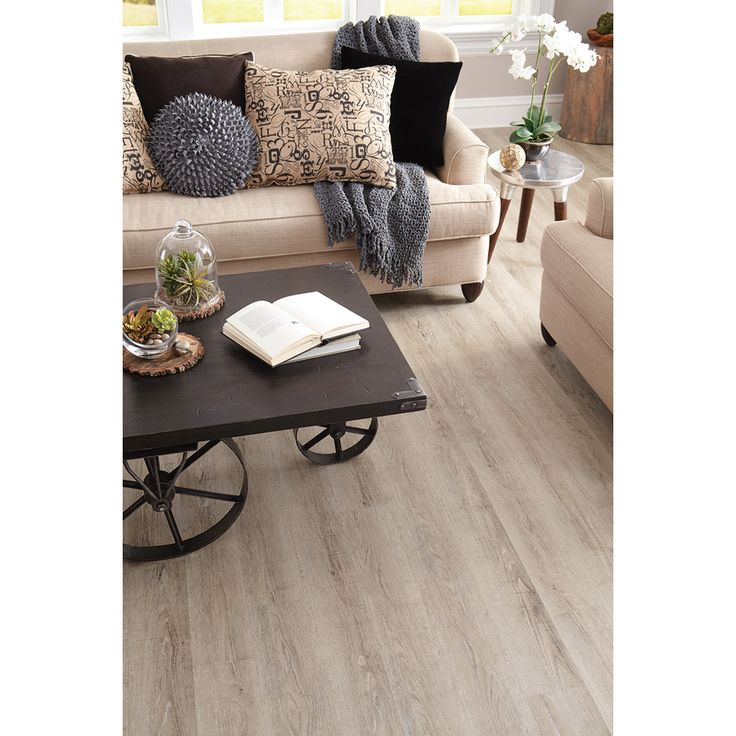 2 48 Lowes Shop Stainmaster 10 Piece 5 74 In X 47 74 In Washed Oak Cottage Gray Floating Oak