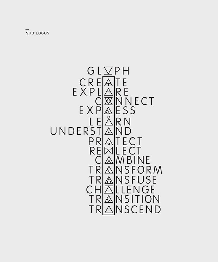 Glyph defines 14 symbols through original lifestyle photography and minimal design. The Glyph concept is seen through forms of a book, apparel, and a website.