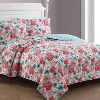 American Home Fashion Estate Stacia Reversible Quilt Set Size: King