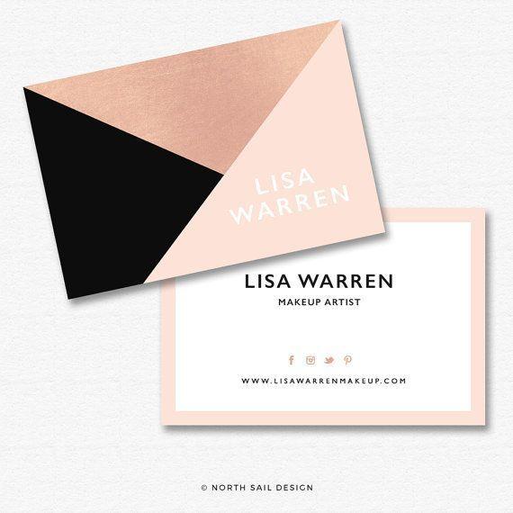 Premade Business Card Design - Print Ready, business card template, custom business card, rose gold, gold foil, realtor branding