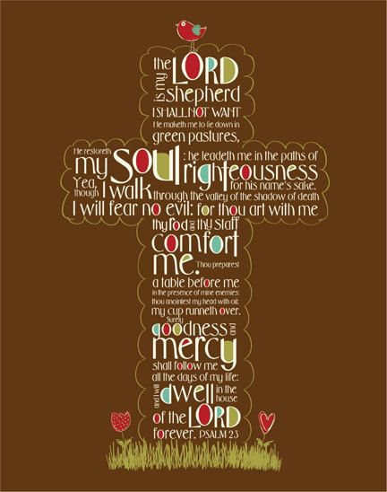 The Lord is my shepherd...More at http://beliefpics.christianpost.com