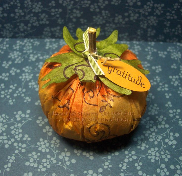 """The coffee filters that I used in this project are about 8"""" in diameter. They are the 8-12 cup size that you find in grocery stores. To make larger pumpkins, you can use the larger commercial coffee filters. You may be able to find them in restaurant supply stores."""