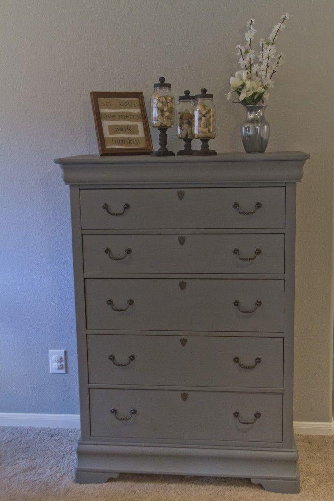 Tall Hand Painted Grey Dresser For Sale Master Bedroom Beachglassfurniture Pinterest