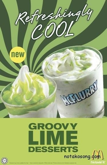 Lime - Malaysia | 28 Unusual And Wonderful International McFlurry Flavors