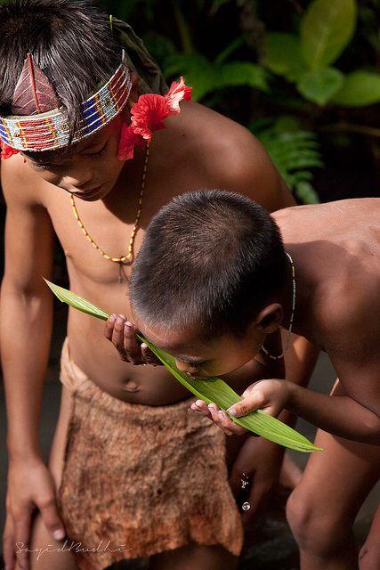 Mentawai boys, Siberut Island, Sumatra Indonesia
