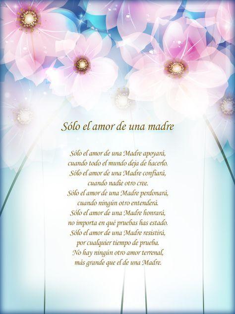 Poemas Para Madres Cristianas Sólo El Amor De Una Madre Mothers
