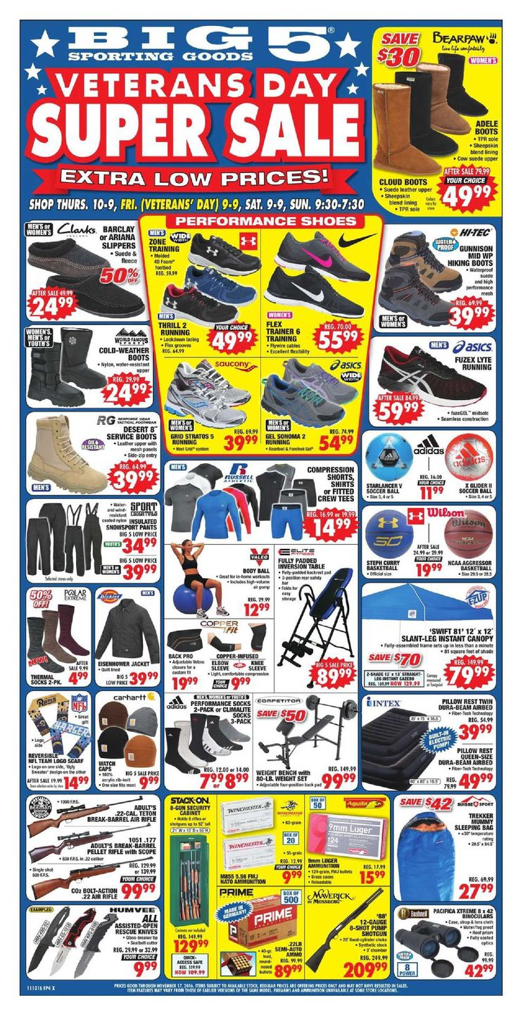 Big 5 Ad October November 10 – 17, 2016 - http://www.olcatalog.com/sports-toys/big-5-weekly-ad.html