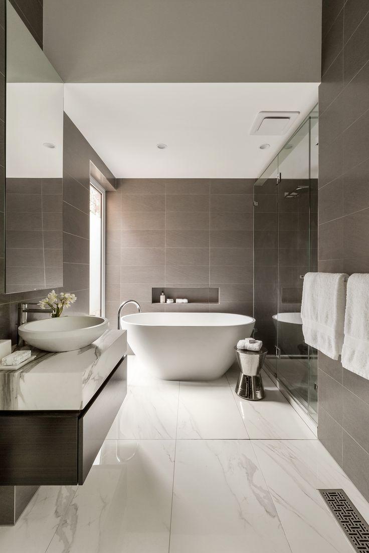 Contemporary condo bath modern bathroom chicago by jill jordan - Contemporary Brown And White Bathroom Curva House By Lsa Architects