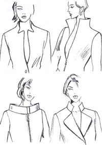How to draft these standing collars.not in English but I think I can work from the drawings
