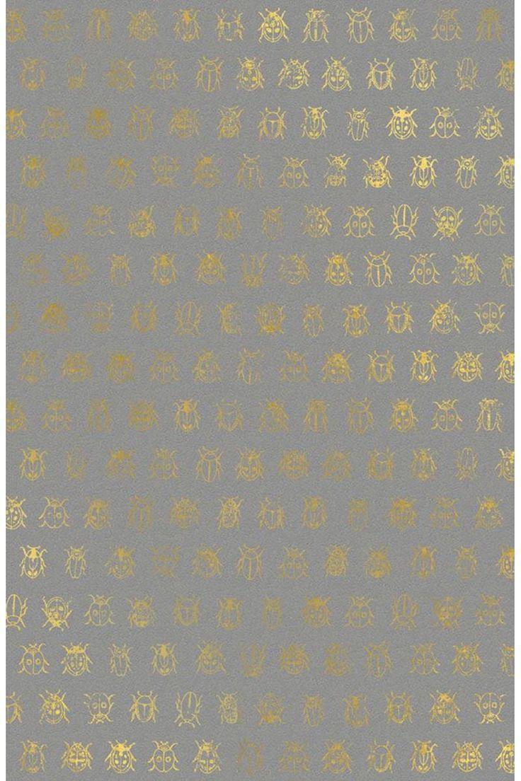 10 Mt Gold/Silber folie Geburstet Textur Tapete, luxus Glitter ...