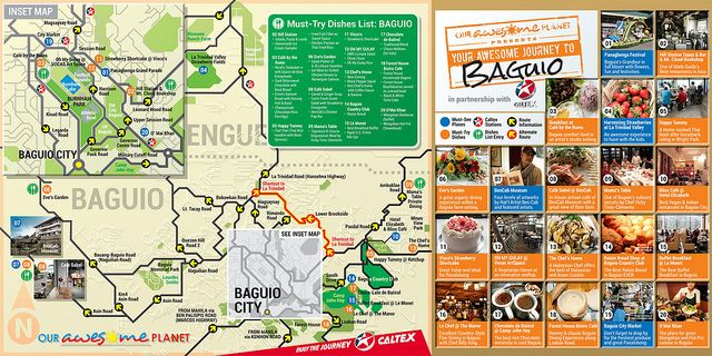 Our Awesome Planet in partnership with Caltex Philippines presents Awesome Journeys Infographics: (Download: Your Awesome Journey to Baguio Food Trip PDF File for Printing ) Awesome Journey Infographics Series: PAGUDPUD: Your Awesome Journey to Pagudpud (Infographic) BICOL: Awesome Journey to...