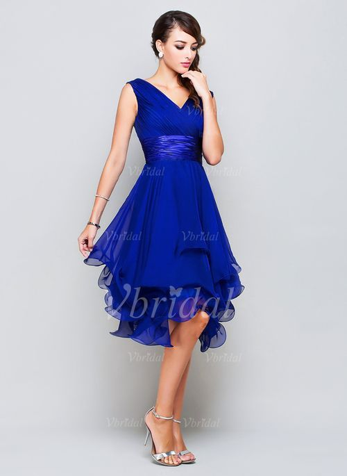 Blaues kleid a linie