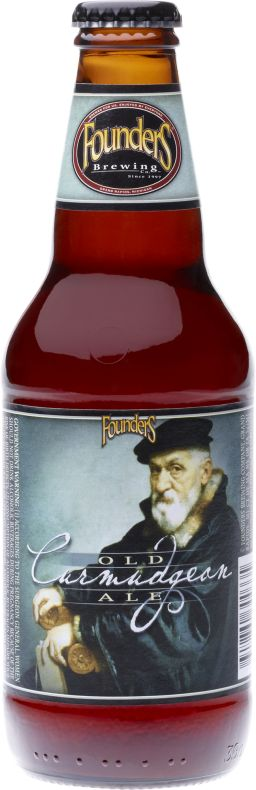 Founders Old Curmudgeon- a perfectly balanced, bold beer brewed with molasses & aged in oak barrels.