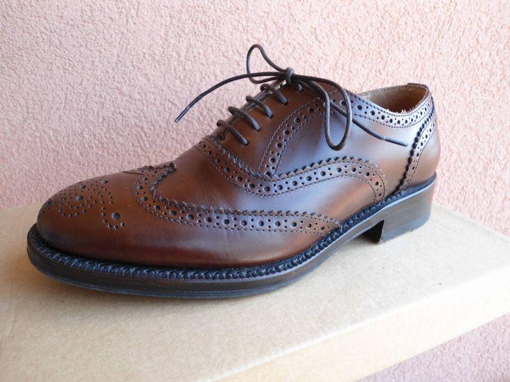Scarpe vintage vera pelle italiana / scuro marrone polacco / donna lacci scarpe / ala accento / 36 1/2 dimensioni / 4,5 UK / 5,5 U.S. by SweetVintageGal on Etsy