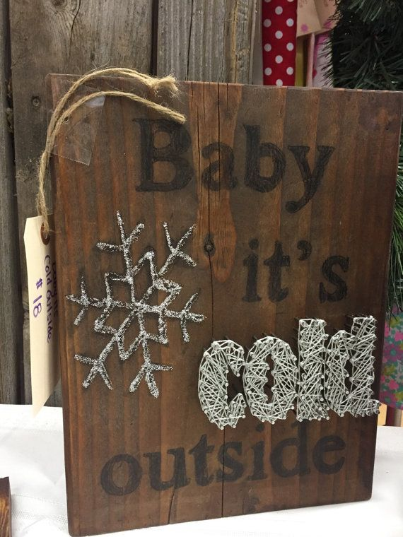 Baby its cold outside nail string art by CassidiesCreations                                                                                                                                                      More