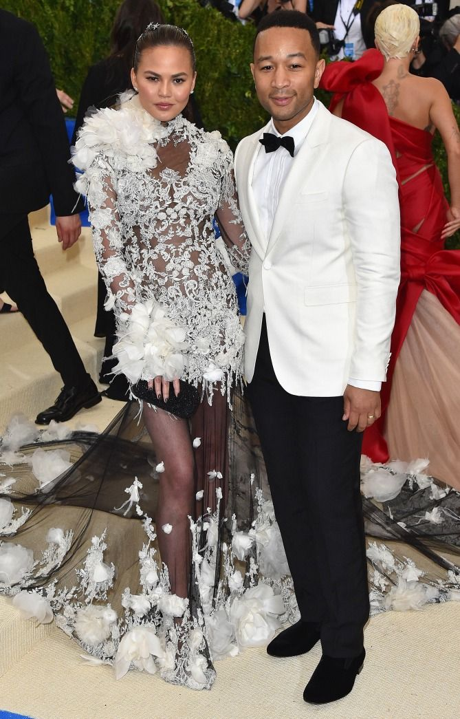 Chrissy Teigen and John Legend  - click through for more best-dressed couples at the 2017 Met Gala