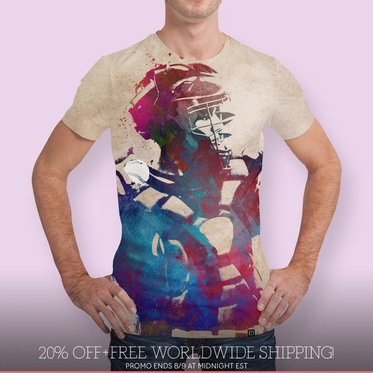 Discover «baseball player 1», Numbered Edition Men's All Over T-Shirt by Justyna Jaszke - From $39 - Curioos