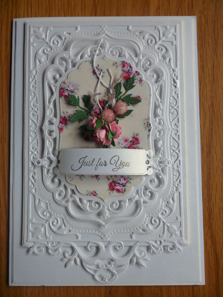 """Elegant Labels 4 with a """"Just for You"""" Label. Love these Spellbinder Dies. Just stunning!"""