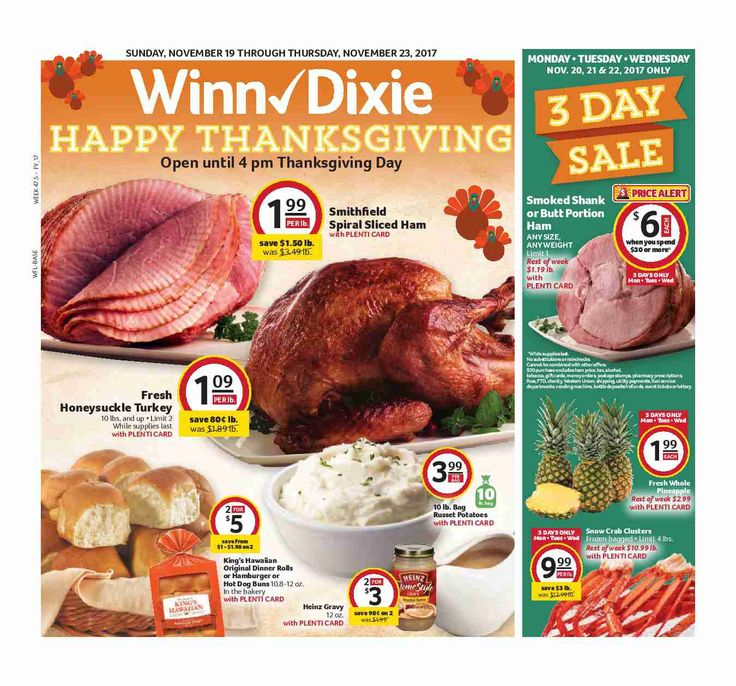 Winn Dixie In-Store Flyer November 19 - 25, 2017 - http://www.olcatalog.com/grocery/winn-dixie-in-store-flyer.html