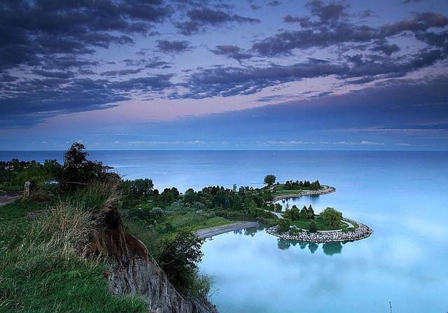Scarborough, Ontario, Canada.  Beautiful Scarborough Bluffs.