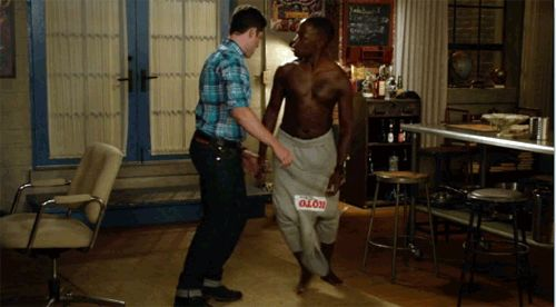 """Winston is the only one who has any chance of keeping Schmidt in line. 