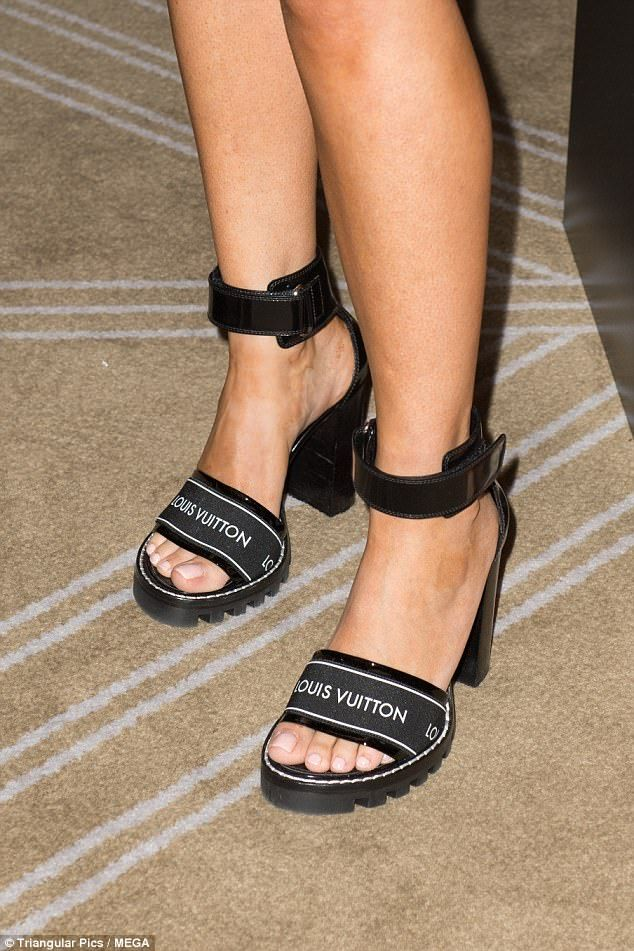 d48f02daa PR maven Roxy Jacenko steps out in unusual $1,500 pair of Louis Vuitton  sandals while promoting her new tanning product