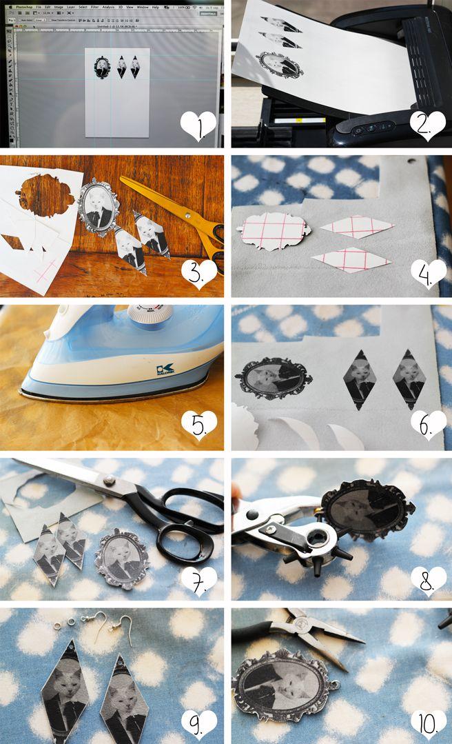 Lana Red Studio: Printing Leather jewelry DIY
