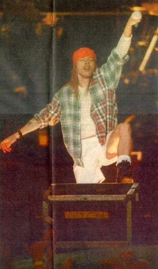 Axl Rose, Guns N' Roses - Stockholms Stadion, Stockholm, Sweden June 12th 1993