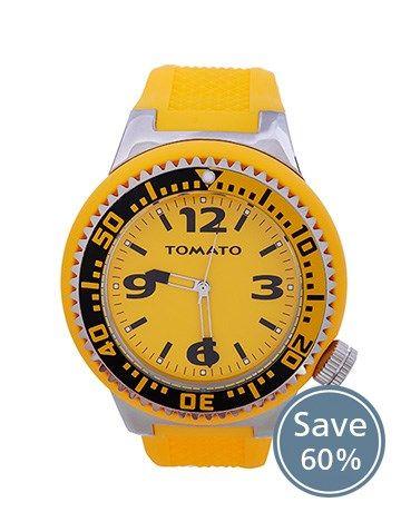 Buy Tomato Gents Iconic Large Yellow Watch Online - NetJewel